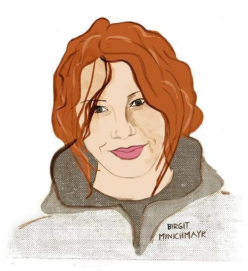 Birgit Minichmayr, Portrait, Illustration, Editorial