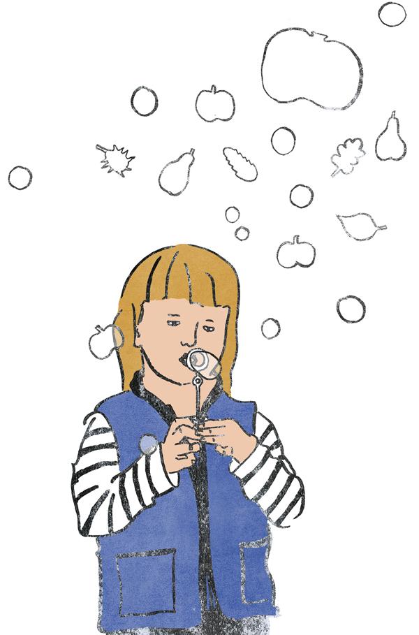Bubblegirl, Herbst, Mädchen, Seifenblasen