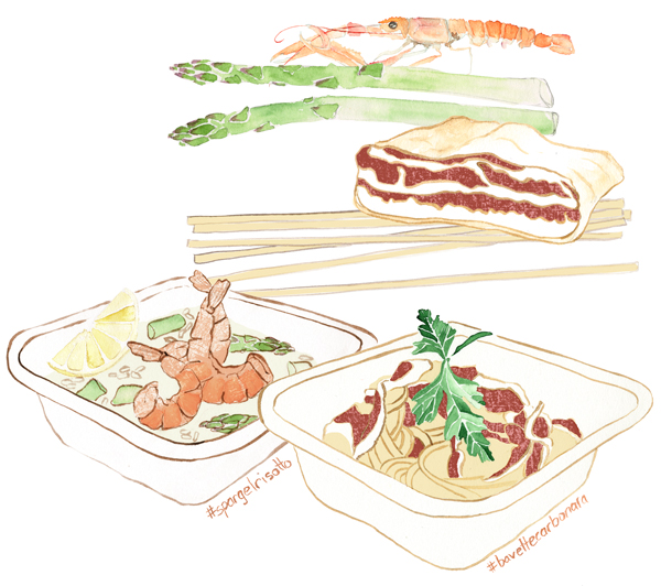 Illustration, Food, Aquarell, Pasta Arte, Editorial