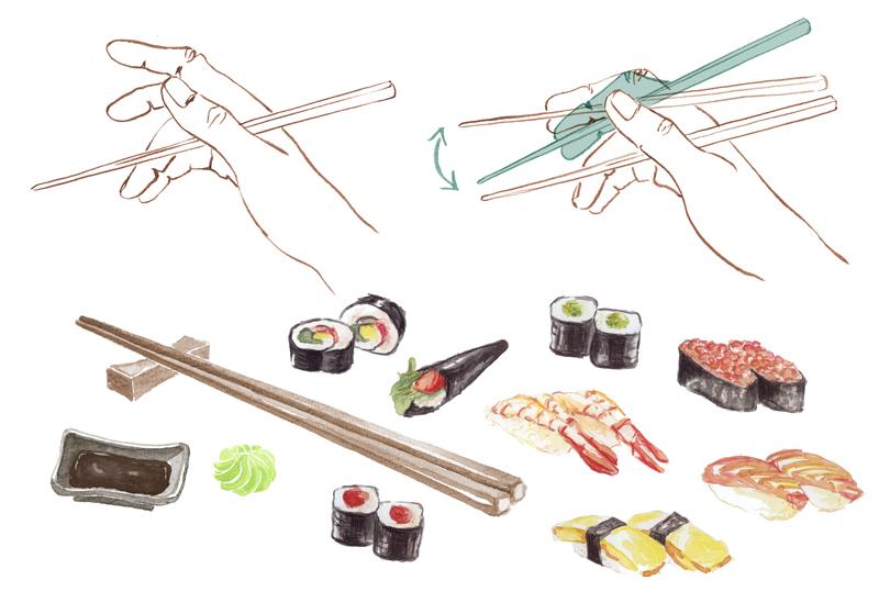 Anleitung zum Sushi Essen