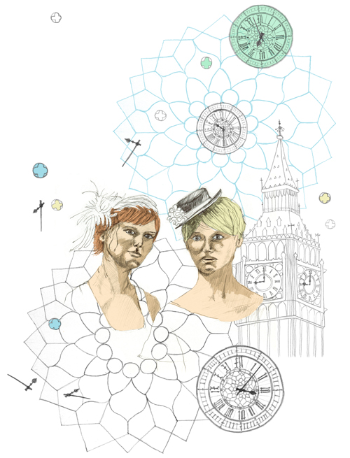 Illustration, Big Ben, London, shopping